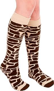 product image for Chrissy's Socks Women's Giraffe Print Knee High Socks 7-11 Tan/Brown