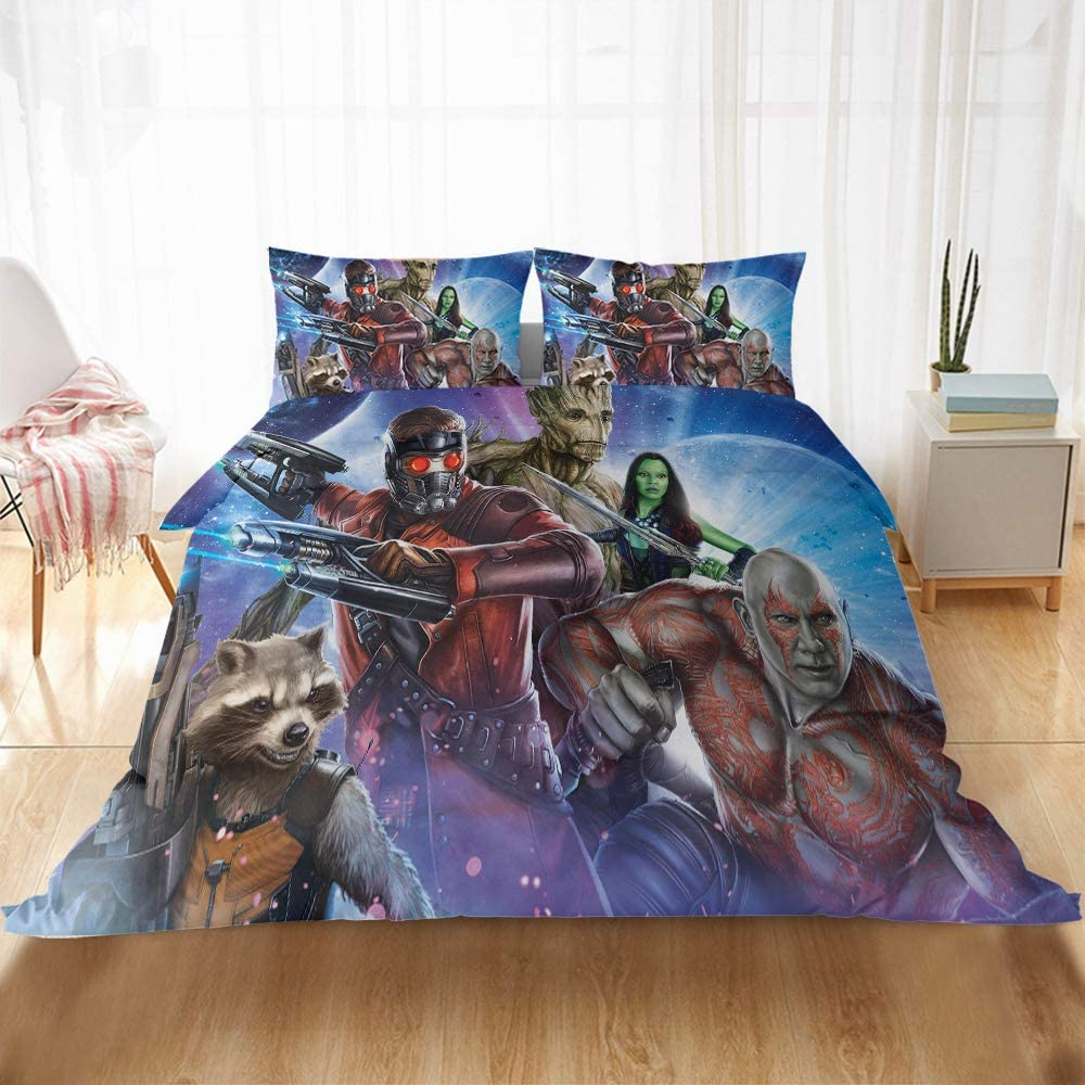 Guardians of The Galaxy Marvel Duvet Cover Sets, 3 Piece Queen
