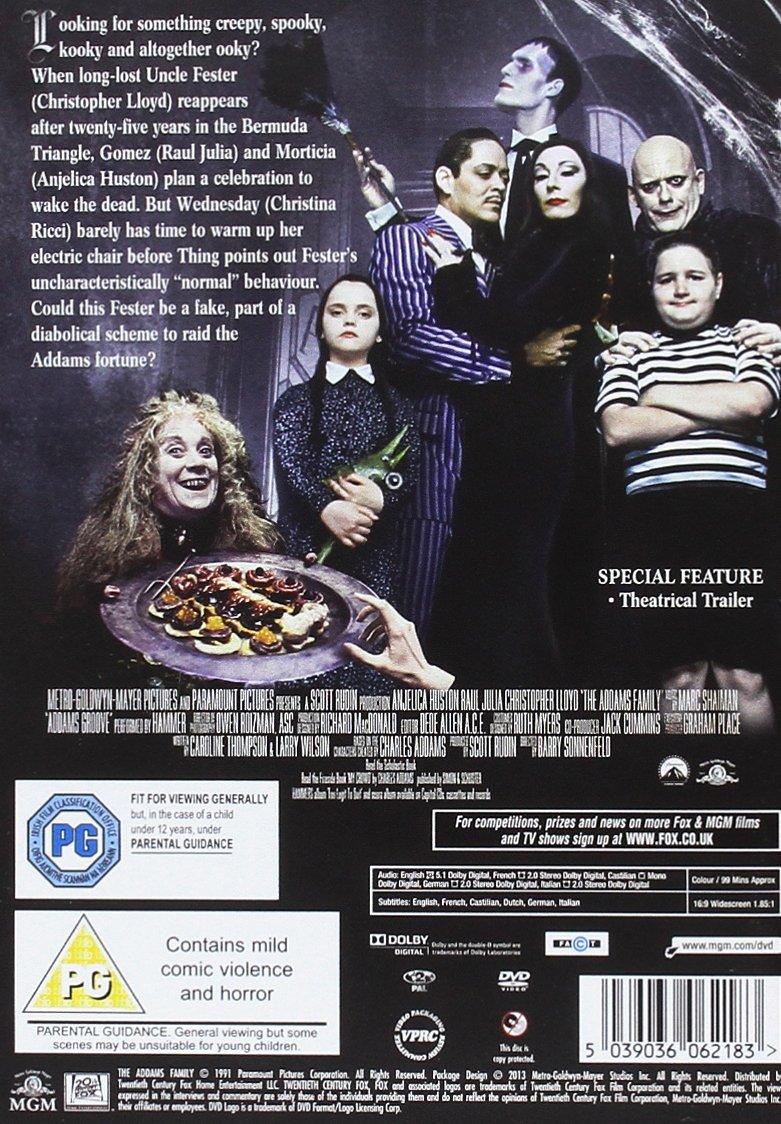 Amazon Com The Addams Family Dvd 1991 Movies Tv
