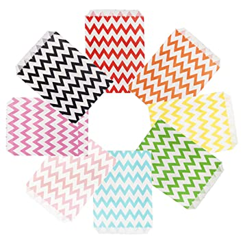 Amazon.com: Tvoip - 50 bolsas de papel para fiesta, diseño ...