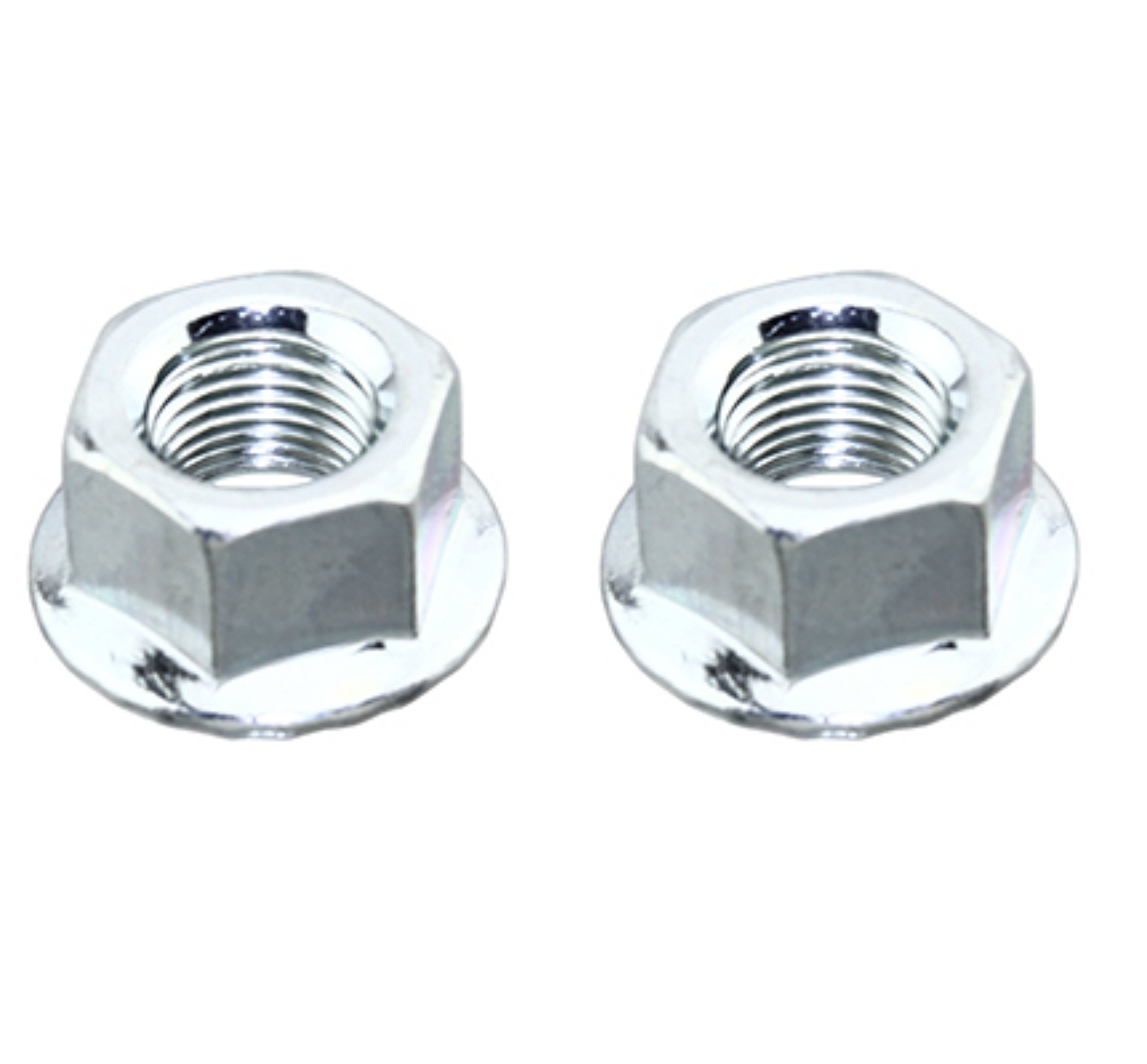 Lowrider 2 - Nuts 3/8 x 26t Front/Rear Chrome. Set of axle nut. Pair of axle nut. Bicycle nut, bike nut, beach cruiser, chopper, mountain, limo