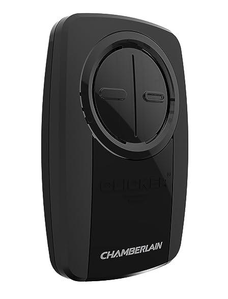 chamberlain group klik3ubk clicker universal 2button garage door opener remote with visor