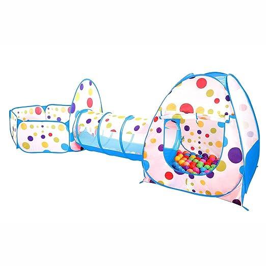 9 opinioni per Pop Up di Tenda Giocattolo e Indoor Outdoor Tunnel, Ball Pool per Bambini,