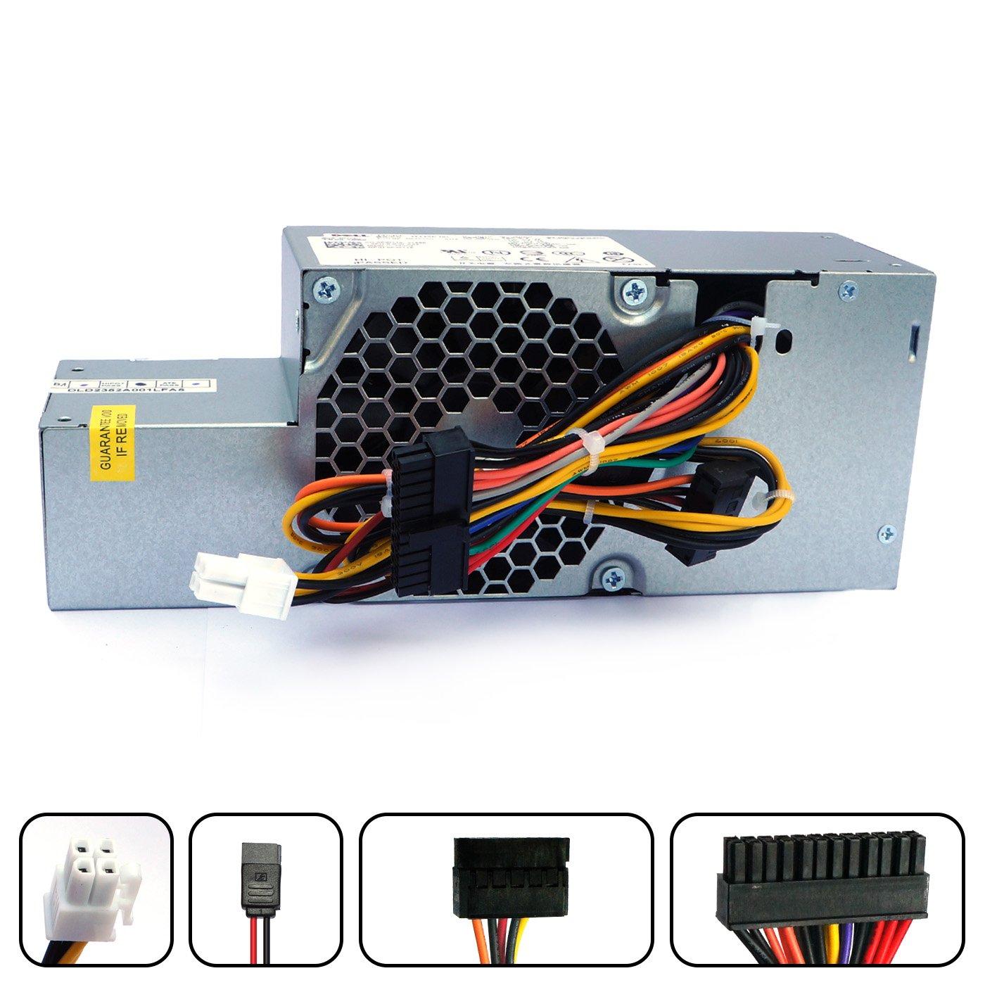 PW116 WU136 235W Desktop Power Supply For Dell Optiplex 760 780 960 980 Small Form Factor (SFF) Systems FR610 6RG54 MPF5F N6D7N RM112 67T67 R225M R224M H255T H235P-00 L235P-01 D235ES-00 F235E-00 by POINWER (Image #1)