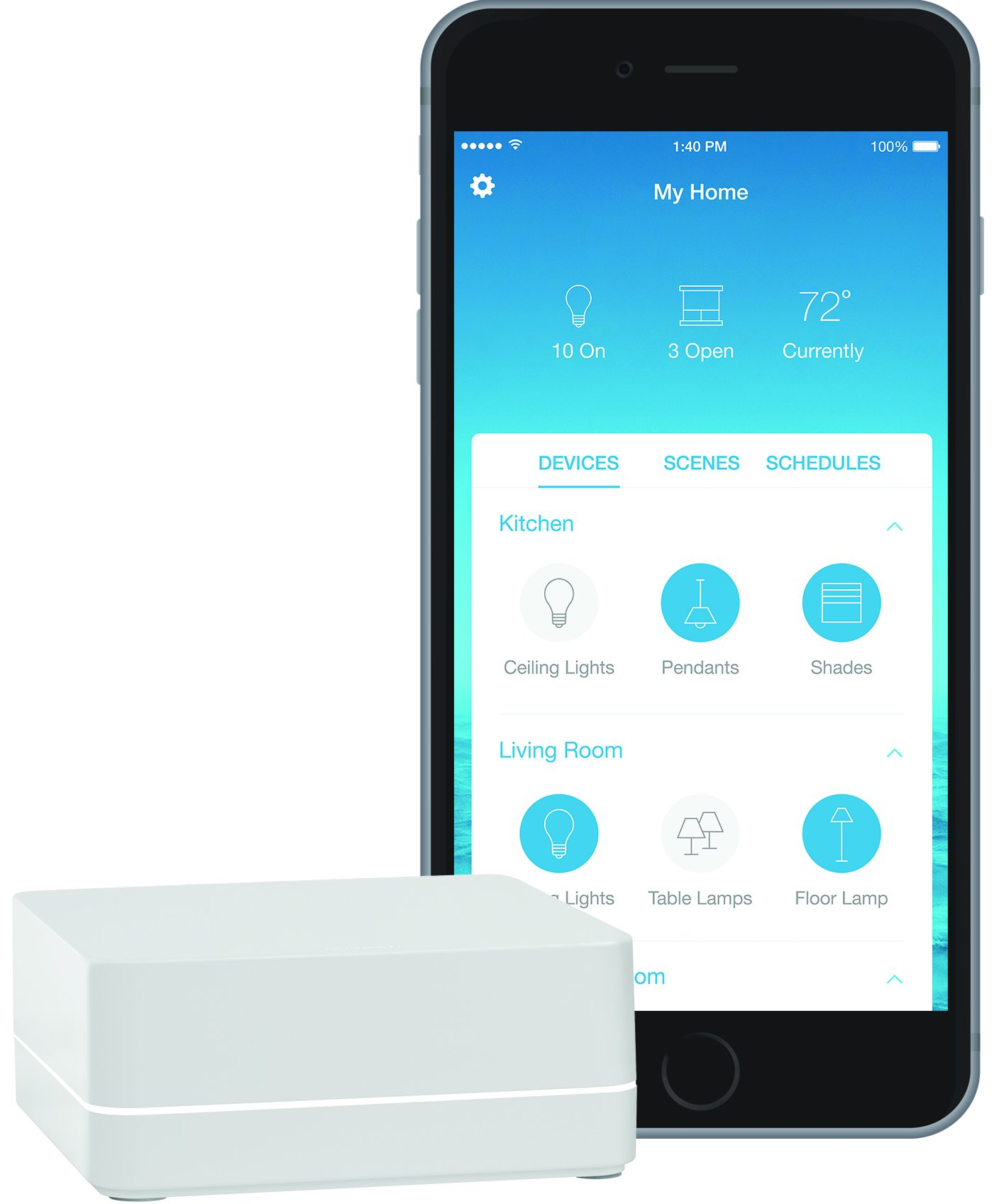 Lutron Caseta Wireless Smart Bridge, L-BDG2-WH, Works with Alexa, Apple HomeKit, and the Google Assistant