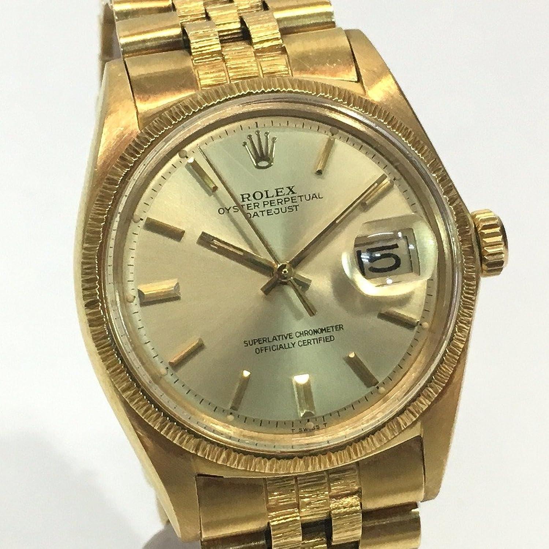 (ロレックス) ROLEX 1607 バーグベゼル デイトジャスト 金無垢 メンズ腕時計 腕時計 K18YG メンズ 中古 B0719H78M9