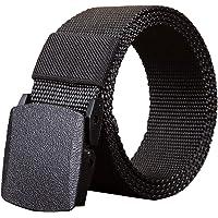 Elonglin Nylon Belt, Canvas Military Tactical Belt Unisex Men Women 1.5'' Wide with Plastic Buckle