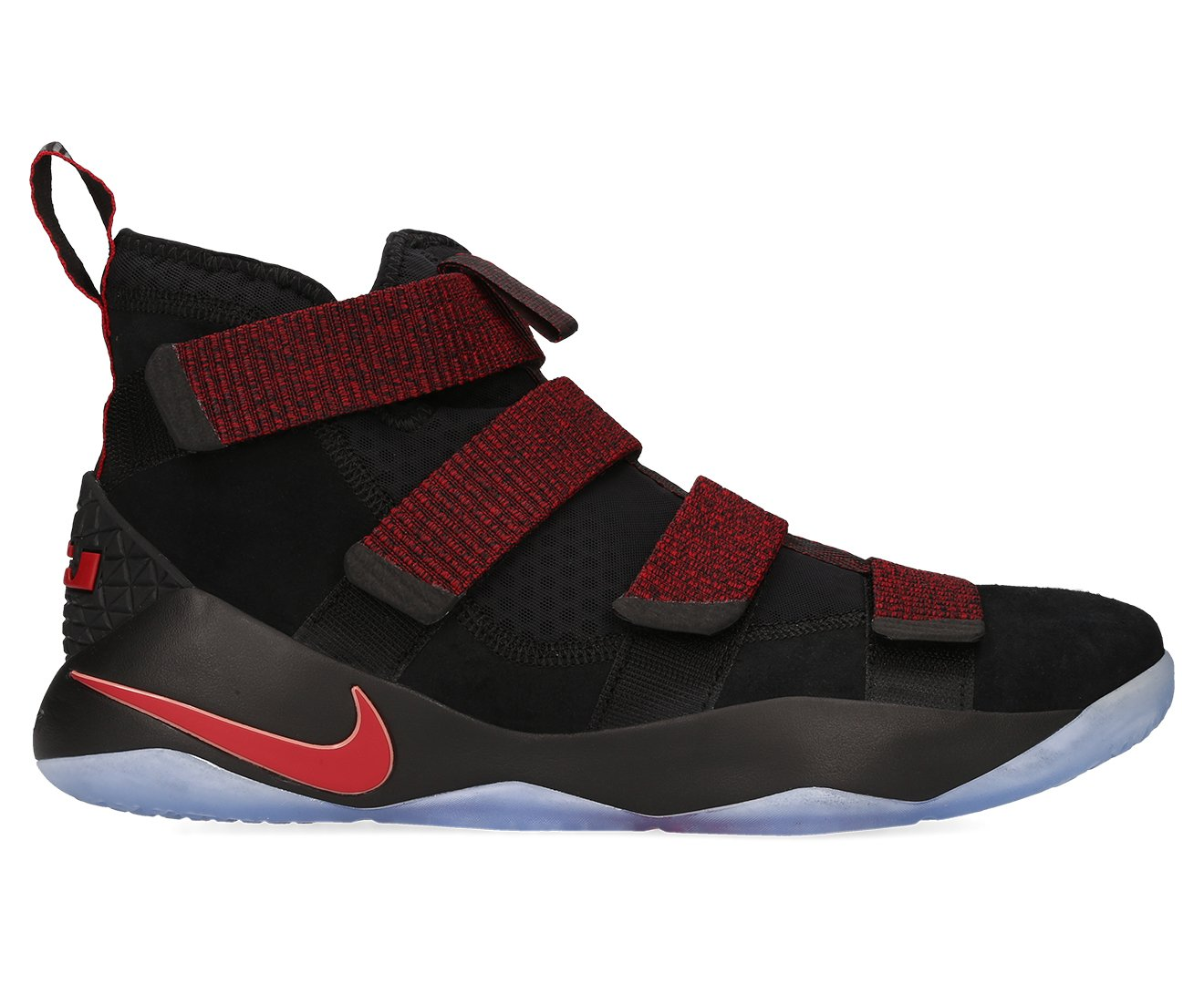 6813eb4b582 Galleon - Nike Men s Lebron Soldier XI Shoe Black Team Red Size 10.5 M US