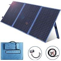 SARONIC Monocristalino de Panel Solar Plegable de 150 W y 12 V con un Controlador de Carga Solar de 10 A para Camper, Caravana, reuniones de autocaravanas, oficinas móviles Carga de batería de 12 v