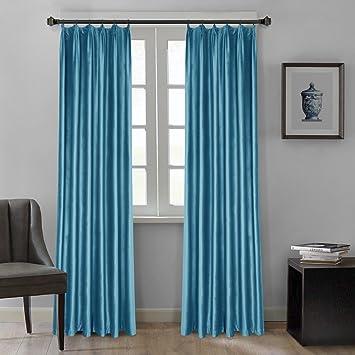 Amazonde Dreaming Casa Blau Grau Samt Gardinen Für