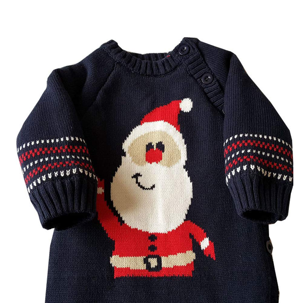Fairy Baby Infant Baby Boy Girl Christmas Outfit Knit Sweater Santa Fleece Romper