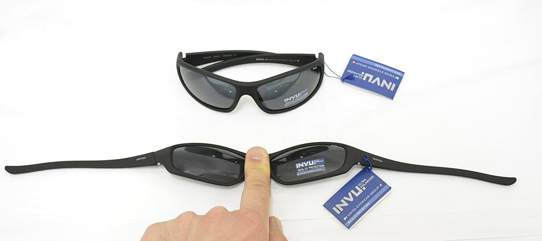 INVU Gafas de Sol polarizadas 2501 B Negro elástica indeformabile ...