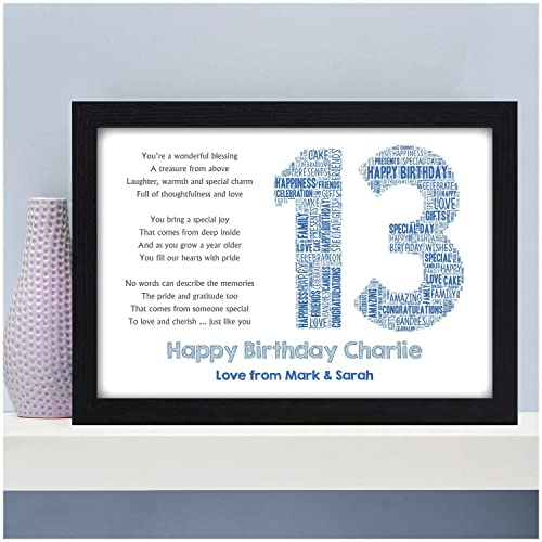Personalised Birthday Poem Gifts For Her Him 13th 16th 18th 21st 30th 40th 50th 60th