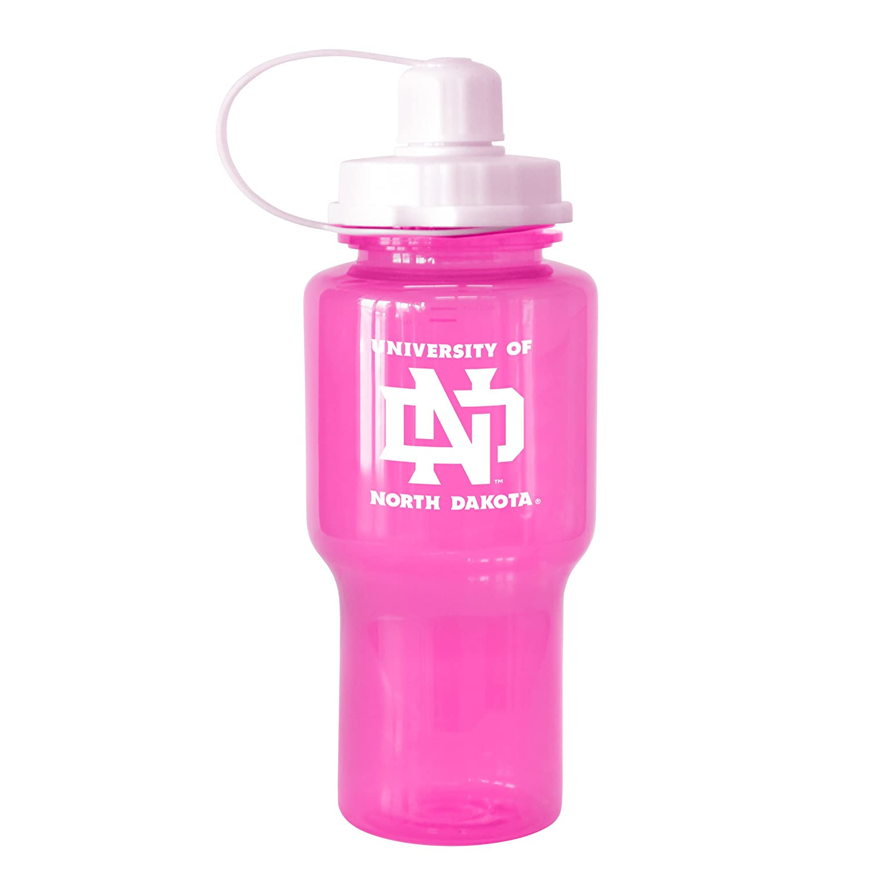 NCAA North Dakota Fighting Sioux Tritan Travel Mate Pink Water Bottle 24-Ounce Boelter Brands 282454