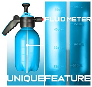 DOSE 60 oz 2L One-Handed Portable Pump Pressurized Foaming Sprayer (Color: teal, black, Tamaño: 2 litre)