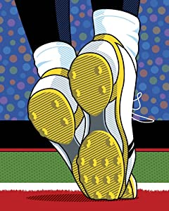 Santonio Holmes Super Bowl Catch by Ron Magnes Art Print, 18 x 22 inches