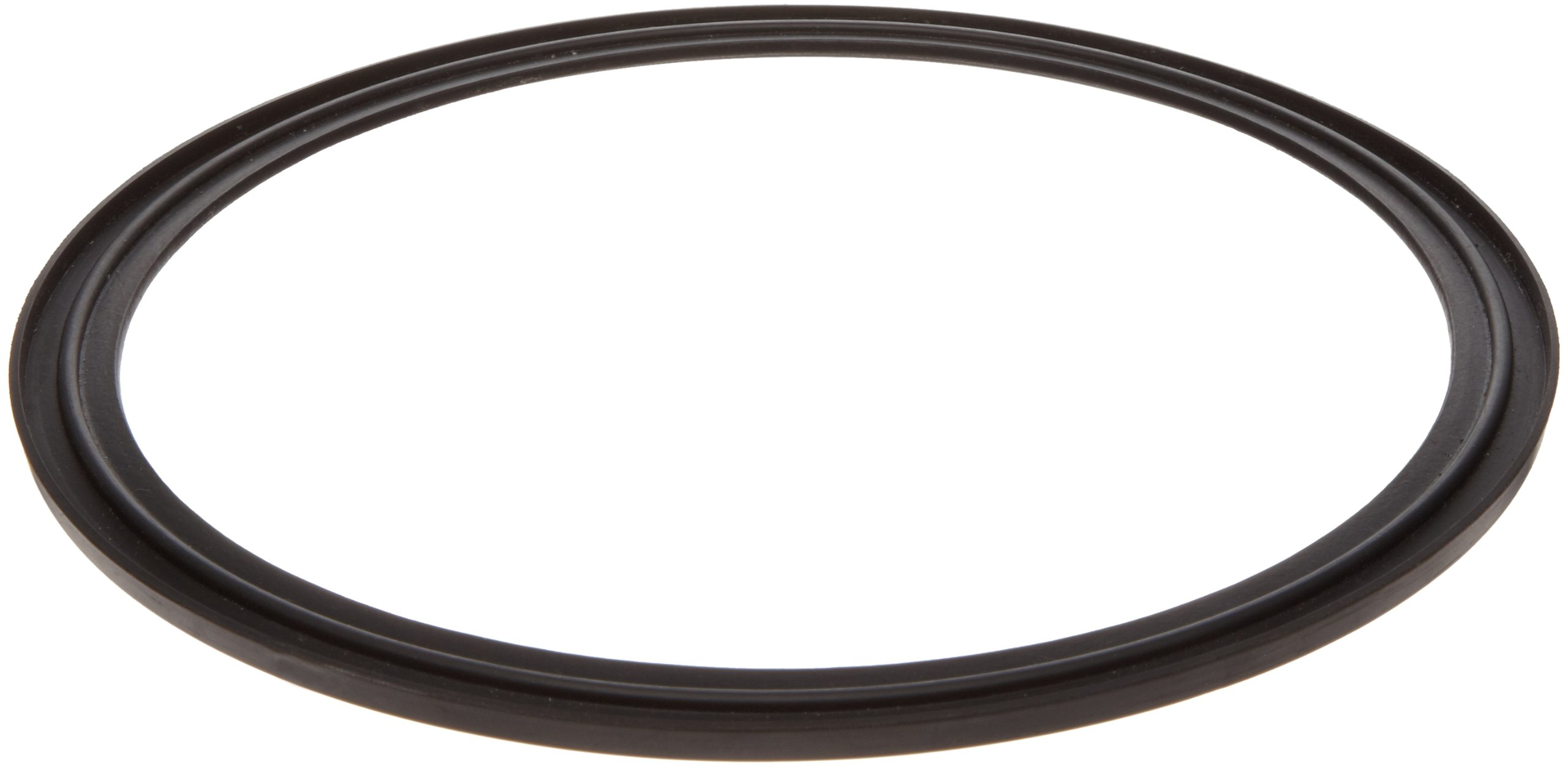 Buna-N Gasket for Quick-Clamp Fitting, Black, 0.203'' Thick, 3'' Tube OD, 2.900'' ID, 3.579'' OD (Pack of 1)