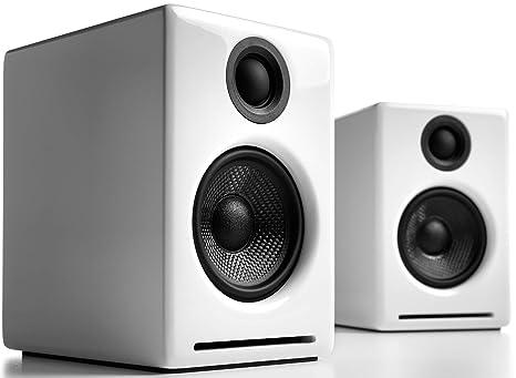 Audioengine A2+ 60W Altavoces de estantería | DAC Incorporado y Amplificador Analógico | Conexión Directa USB, Entradas de 3.5mm y RCA| Cables ...