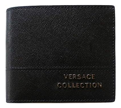 mejor autentico 25fb7 2f496 Versace - Cartera para Hombre Negro Negro 11x9x2: Amazon.es ...