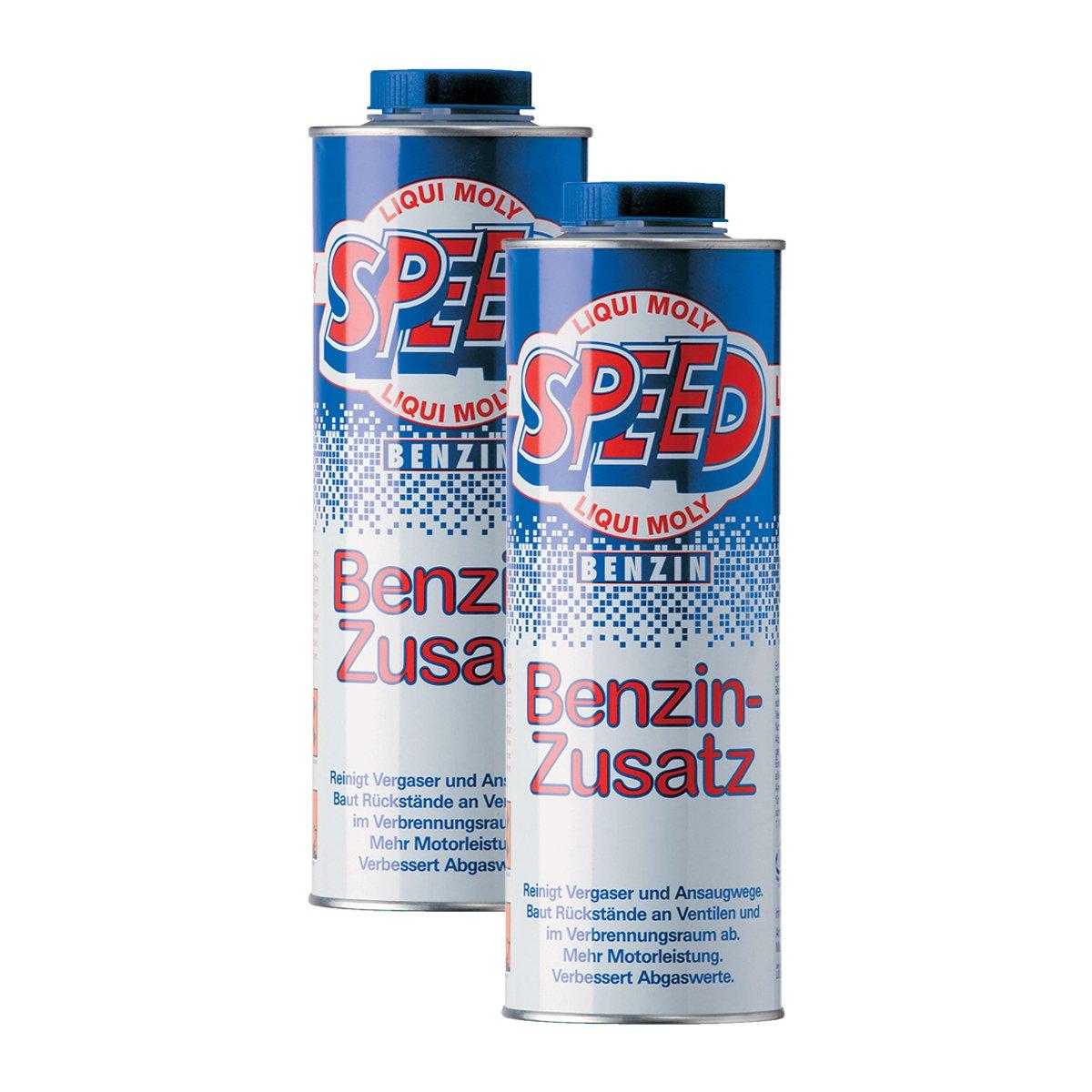 2x LIQUI MOLY 5105 Speed Benzin Zusatz Zugabe Kraftstoff Additiv 1L