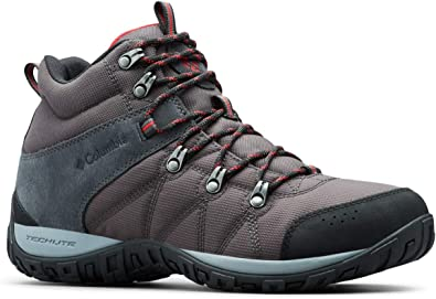 Columbia Men's Peakfreak Venture Boot , Shark, Mountain Red 9.5 Regular US