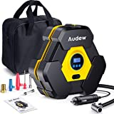 Audew Portable Air Compressor Tire Inflator with Gauge, Auto Digital Air Pump for Car Tires with Extra LED Light, DC 12V…