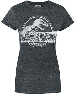 e22962d7a3e Jurassic World Distressed Logo Women's T-Shirt: Amazon.co.uk: Clothing
