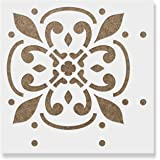 Icarus Tile Stencil - Reusable Mediterranean Tile Stencils for Painting Custom Floors, Walls, Furniture and More!