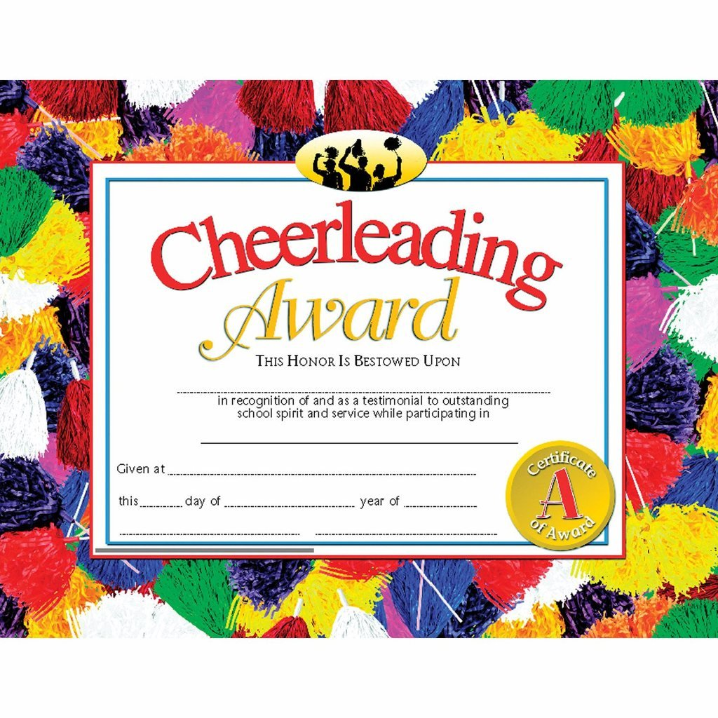 Amazon Cheerleading Award Certificate Glossy Paper