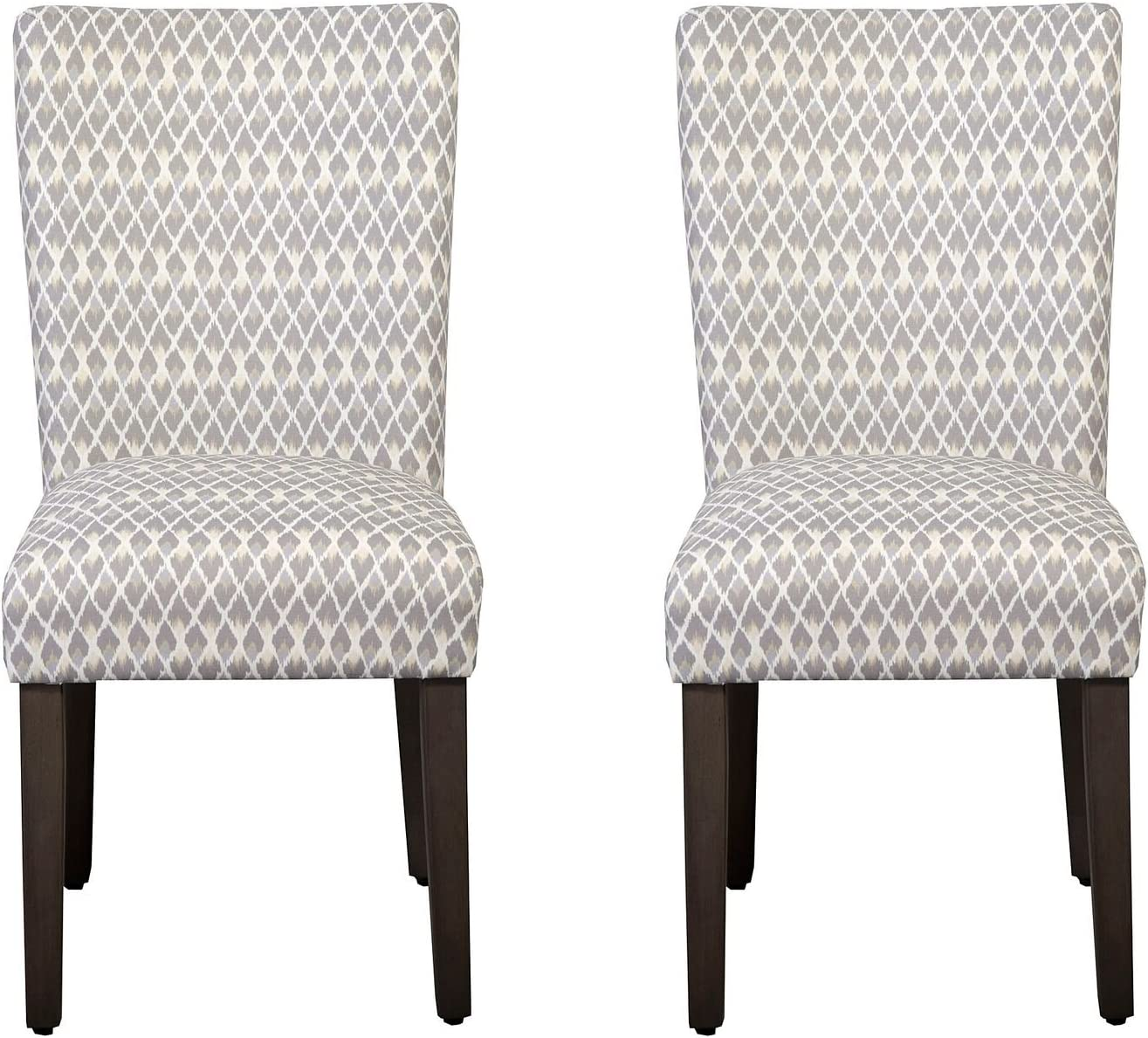 HomePop Parsons Classic Upholstered Accent Dining Chair, Set of 2, Gray
