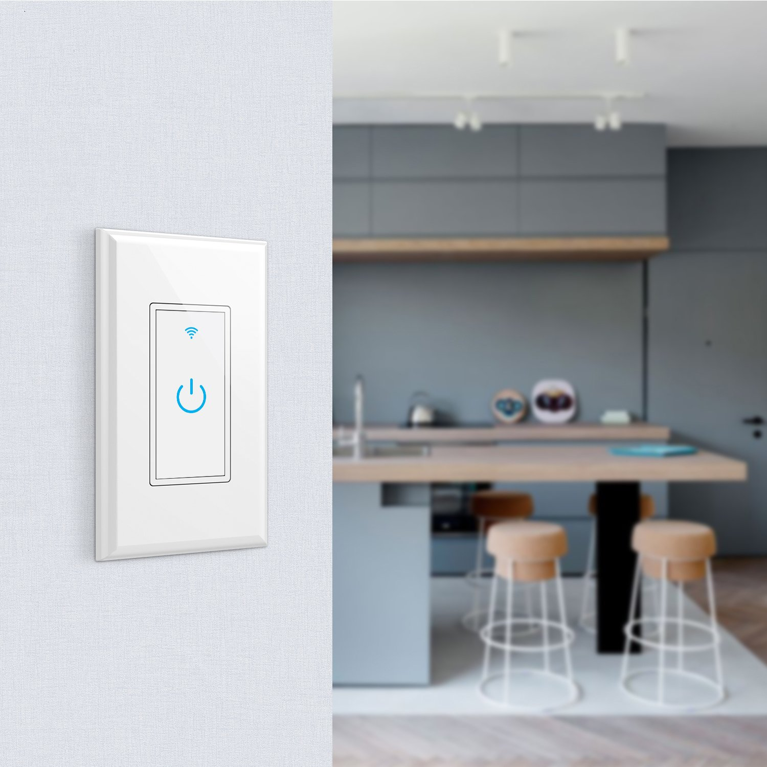 WiFi Smart Light Switch In-Wall,Phone Remote Control Wireless Switch No Hub Required,Timing Function, Automatic Control Your Fixtures From Anywhere,Compatible with Amazon Alexa,Overload Protection 15A by NewRice (Image #5)