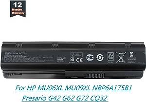 Yongerwy MU06 MU09 Laptop Battery for HP Pavilion G4 G6 G7 G32 G42 G56 G62 G72 DM4 DV3 DV5 DV6 DV7 Compaq Presario CQ42 CQ43 CQ56 CQ62 CQ72 Compatible with 593550-001 593553-001 593554-001 593562-001