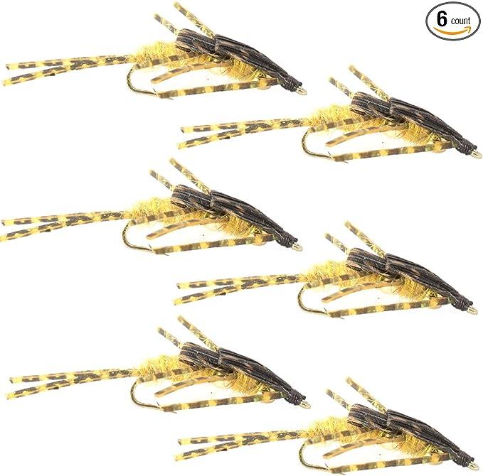 1 dozen Trout Wet Fly Golden Kauffman Stonefly Nymph