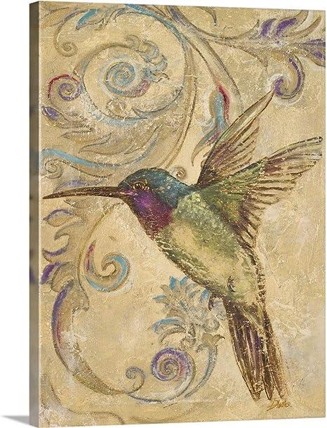 Amazon Com Hummingbird Ii Canvas Wall Art Print 18 X24 X1 25 Posters Prints