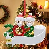 2020 Christmas Ornaments Personalized Quarantine Survivor Family Christmas Ornament Santa with a Mask Christmas Ornament…