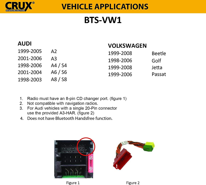 Crux BTS-VW1 Bluetooth Music Streaming