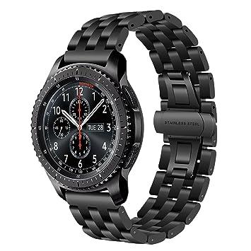 TRUMiRR 22 mm de acero inoxidable reloj de la banda de liberación rápida de la correa de todos los enlaces desmontable para Samsung Gear S3 Classic ...