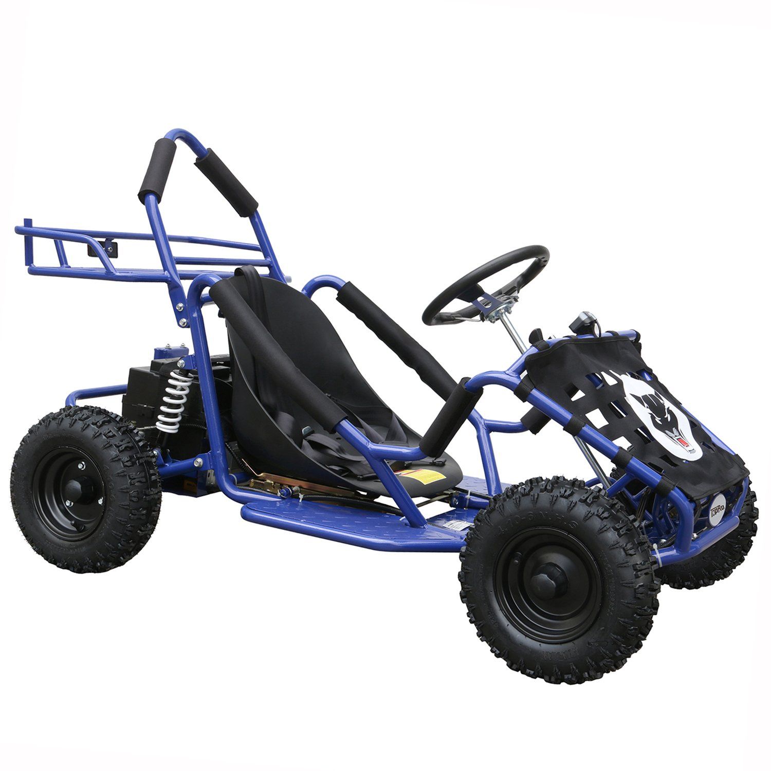JCMOTO Electric Go Karts For Kids 4 Four Wheelers Off Road Tire 48v 1800w Blue (Upgraded versions)