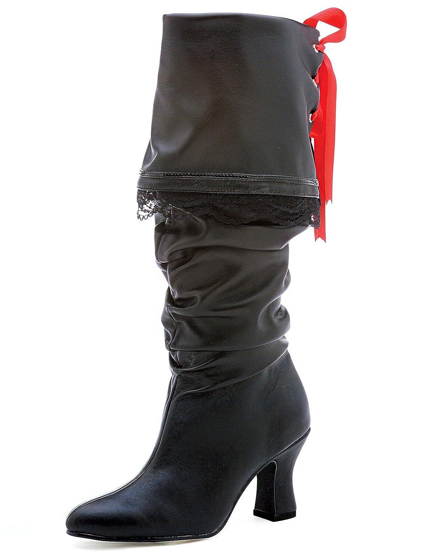 ad9f9bf7c03 Amazon.com | 2 Inch High Heel Pirate Boot Black Knee High Sexy Boots ...