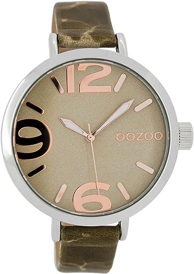 Oozoo C7151 - Reloj de pulsera de mujer con correa de cuero (43 mm ... 53e5e6ab6549