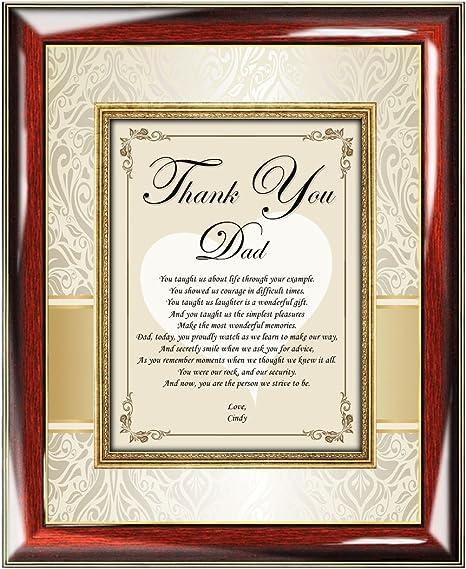 Amazon.com: Thank You Padre Poesía placa personalizada de ...