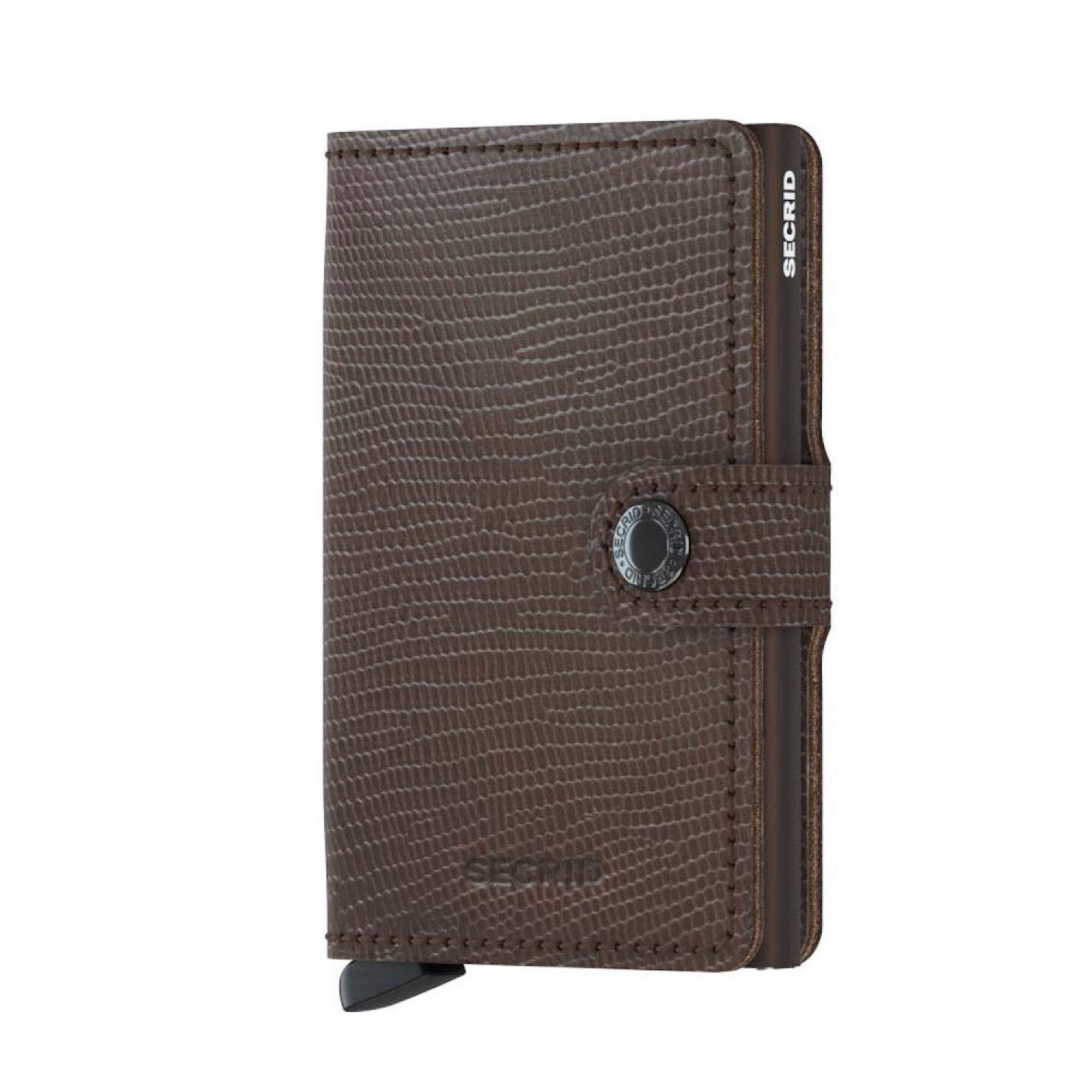 SECRID - Secrid Mini wallet Genuine Rango Leather RFID Safe Card Case for max 12 cards (Rango Brown Brown)