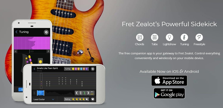 Fret Zealot Accesorio de aprendizaje guiado de guitarra para todas ...