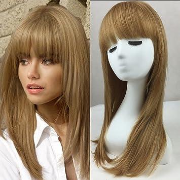 Amazon Com Blonde Unicorn Beautiful Long Straight Wigs With