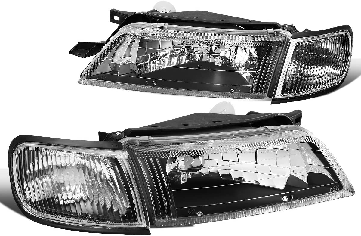 DNA MOTORING HL-OH-NM09-BK-CL1 Pair Projector Headlight//Lamps for 09-14 Nissan Maxima