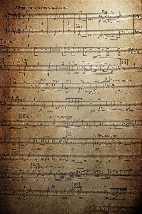 Amazon.com  AOFOTO 6x8ft Vintage Music Notes Photography