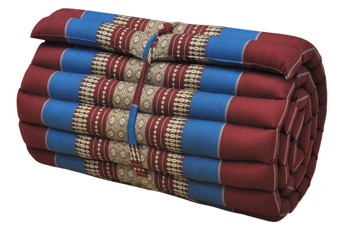 Thai mattress small size (55/180), red/blue, relaxation, beach cushion, pool, meditation, yoga (81213)
