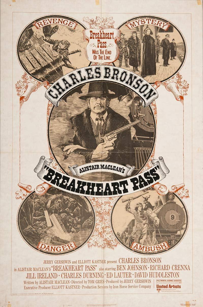 Breakheart Pass Charles Bronson vintage movie poster