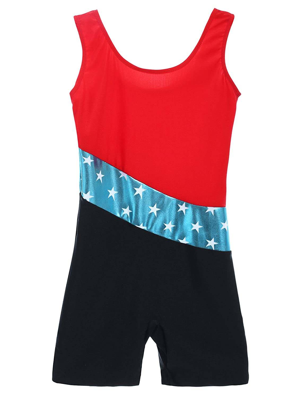 Arshiner Kids' Team Classic Basic Sleeveless Gymnastics Leotard 4-11Y Blue Size 130 **AMS005047_BL_130