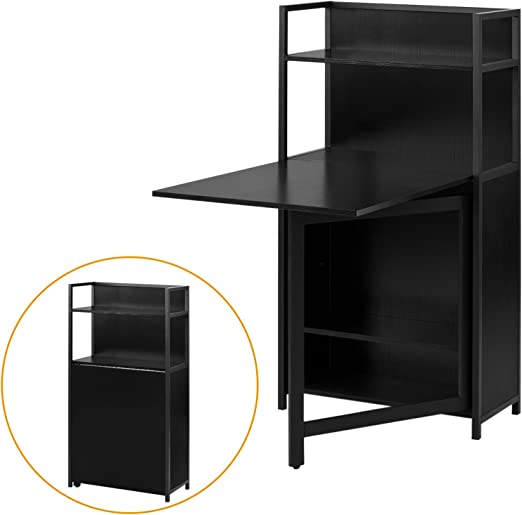 Sobuy® - Mesa plegable, escritorio, mesa de bar, librería, color ...